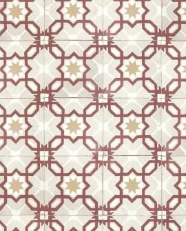 Papier peint Lutece Rétro Vintage Carreau bicolore Rouge 51170210