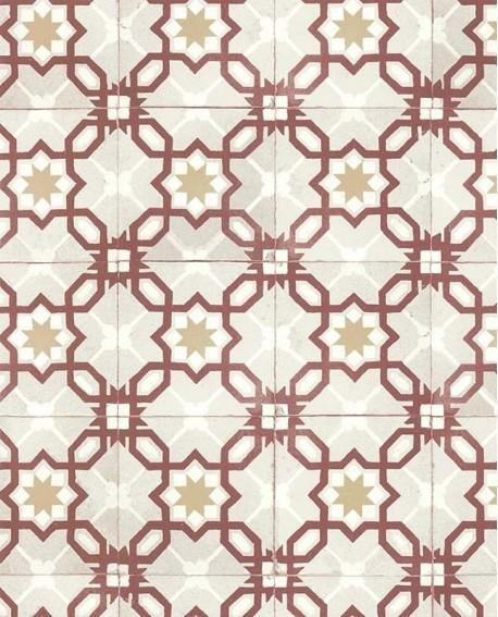 Papier Peint Lutece Retro Vintage Carreau Bicolore Rouge 51170210