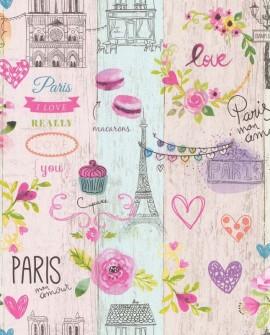 Papier peint Lutèce Les Aventures Paris My Love 51164903