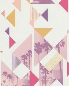 Papier peint Lutèce Les Aventures Palm Spring Rose 51165003