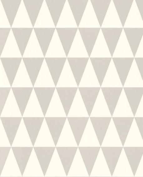 Papier peint Greenhouse Triangle géométrique gris128842