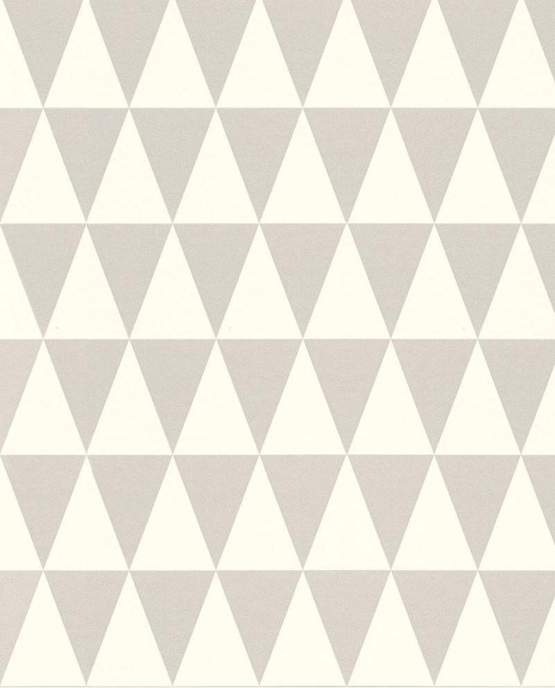 Papier Peint Rasch Greenhouse Triangle Géométrique Graphique Gris Et Blanc  Mat 128842. Loading Zoom