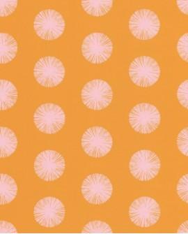 Papier peint Caselio Smile Pom Pom Girl jaune 69732818