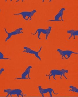 Papier peint Caselio Smile Félin orange  69743712