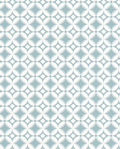Papier peint Caselio Smile Carreaux bleu 69806202
