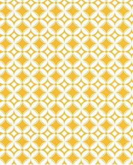 Papier peint Caselio Smile Carreaux jaune 69802112