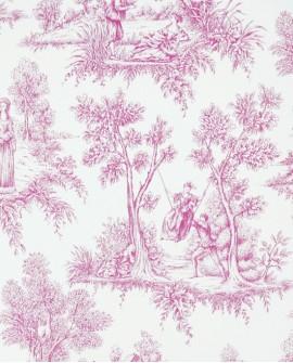 Papier peint Esta Home Love Toile de Jouy Rose 136819