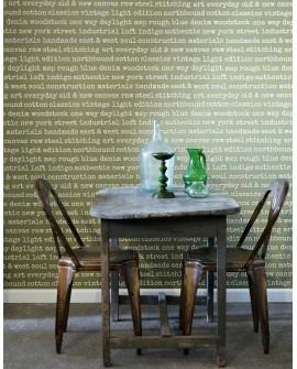 Papier peint Esta Home Greenhouse City talk textes vert olive grisé 137705
