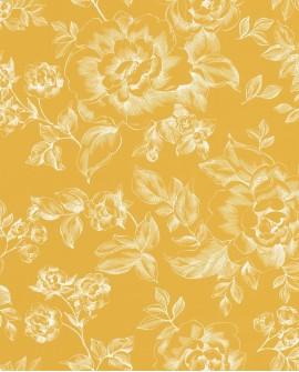 Papier peint Caselio Smile A Fleur de Peau Jaune 69842505