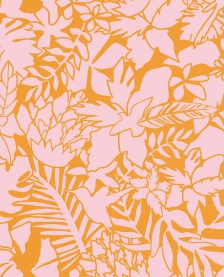 Papier peint Caselio Smile Aloha Orange 69824203