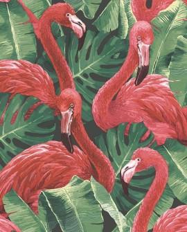 Papier peint Lutèce Globe Trotter Flamants rose rouge G56405