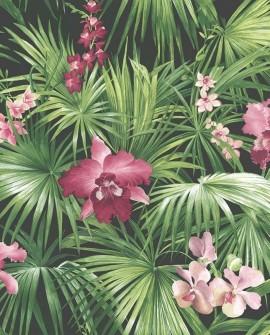 Papier peint Lutece Globe Trotter Orchidées rose G56435