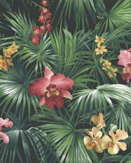 Papier peint Lutece Globe Trotter Orchidées rouge G56434