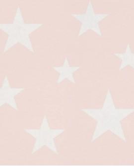 Papier peint Esta Home Little Bandits Etoiles rose clair 138931