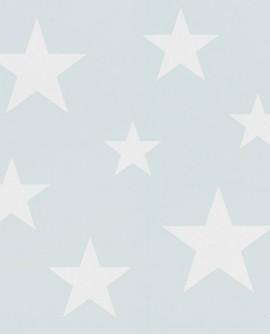 Papier peint Esta Home Little Bandits Etoiles bleu clair 138932