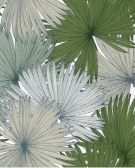 Papier peint Caselio Jungle Feuilles de Palmiers Vert mousse 100047412