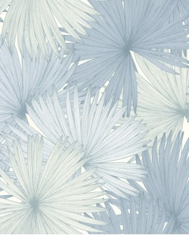 Papier peint Caselio Jungle Feuilles de Palmiers bleu 100049200