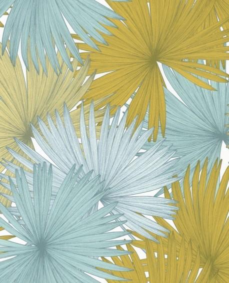 Papier peint Caselio Jungle Feuilles de Palmiers vert olive 100046526
