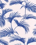Papier peint Caselio Jungle Palmes Bleu 100036212