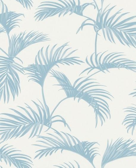 Papier peint Caselio Jungle Feuilles de Palmes Bleu clair 100039000