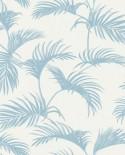 Papier peint Caselio Jungle Palmes Bleu clair 100039000