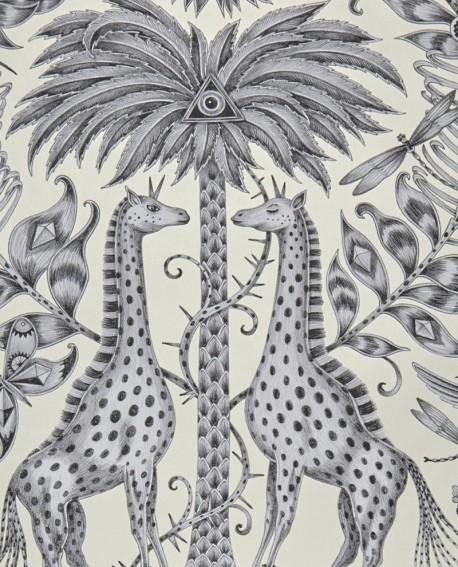 Papier peint Clarke & Clarke Animalia Kruger Monochrome W0102/05