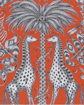 Papier peint Clarke & Clarke Animalia Kruger Flame  W0102/02