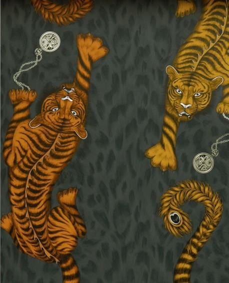 Papier peint Clarke & Clarke Animalia Tigris Flame W0105/01