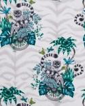 Papier peint Clarke & Clarke Animalia Lemur Jungle W0103/01