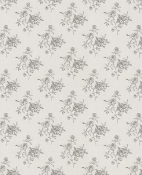 Papier peint Lutèce Fleurs Gris 12116509