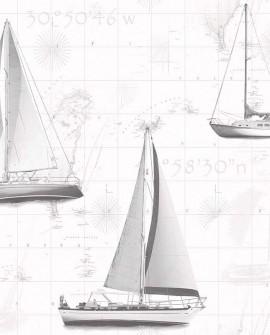 Papier peint Lutèce Globe Trotter Yacht Gris G56421