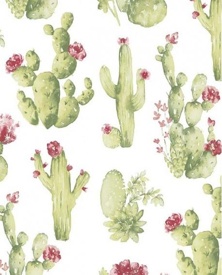 Papier Peint Lutèce Style Cuisine 3 Cactus Fleuris Ck36630