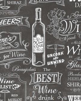 Papier peint Lutèce Style Cuisine 3 Best Wine Noir CK36631