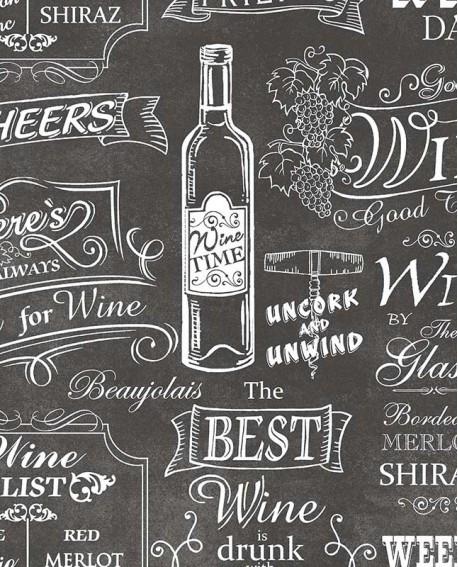 Papier Peint Lutece Style Cuisine 3 Best Wine Noir Ck36631
