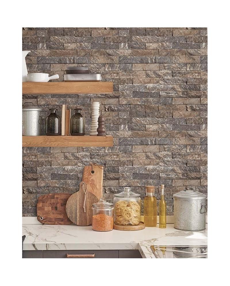 Papier Peint Brique Cuisine papier peint lutèce style cuisine 3 brique beige ck36624