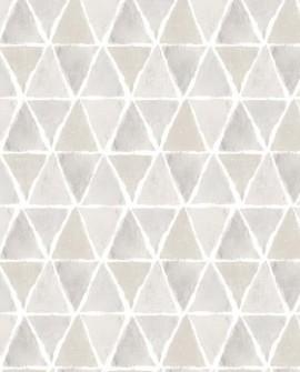Papier peint Lutèce Style Cuisine 3 Allover Triangle Beige Gris CK36637