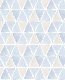 Papier peint Lutèce Style Cuisine 3 Allover Triangle Beige Bleu CK36638