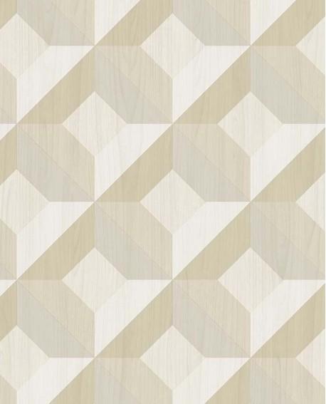 Papier Peint Lutece Style Cuisine 3 Carre Geometric Beige Ck36619