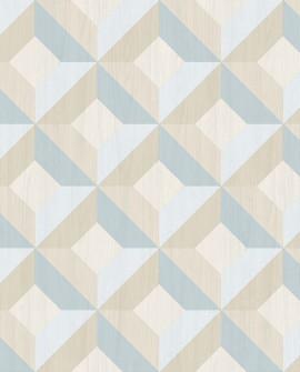 Papier peint Lutèce Style Cuisine 3 Carré Géométric Bleu CK36618