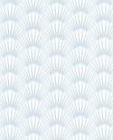 Papier peint Caselio Jungle Palmes stylisées Bleu 100059110