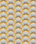 Papier peint Caselio Jungle Palmes stylisées Moutarde 100053434