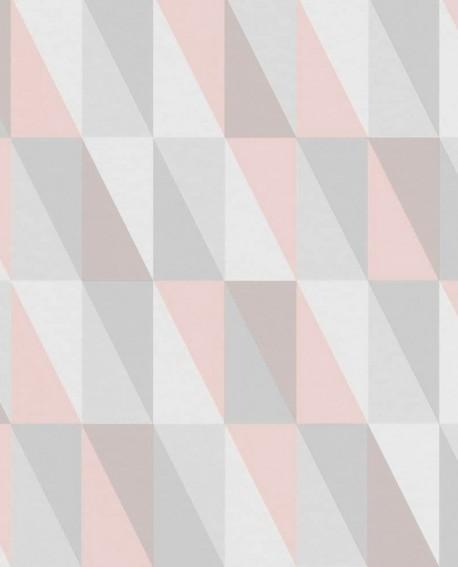 Papier Peint Esta Home Little Bandits Triangle Graphique Vert Et