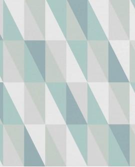 Papier peint Esta Home Little Bandits Triangle Graphique Vert et bleu 138920