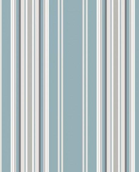 Papier peint Esta Home College Rayures Bleu et gris 138807