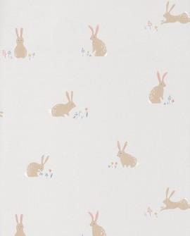 Papier peint Casadeco Happy Dreams Bunny Bleu/jaune HPDM82746110