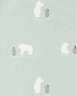 Papier peint Casadeco Happy Dreams Polar Bear HPDM82826126