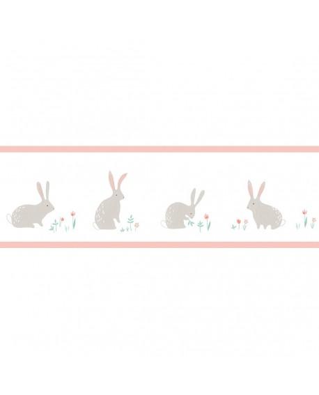 Frise Casadeco Happy Dreams Bunny Rose HPDM82894240