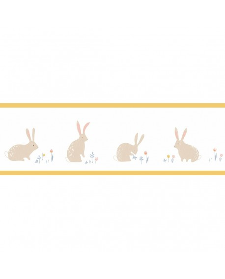 Frise Casadeco Happy Dreams Bunny Jaune HPDM82892339