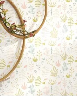 Papier peint Casadeco Happy Dreams All over Jungle Rose HPDM82734107