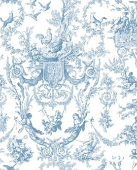 Papier peint Initiales Toiles Vieux Monde Bleu AT4241